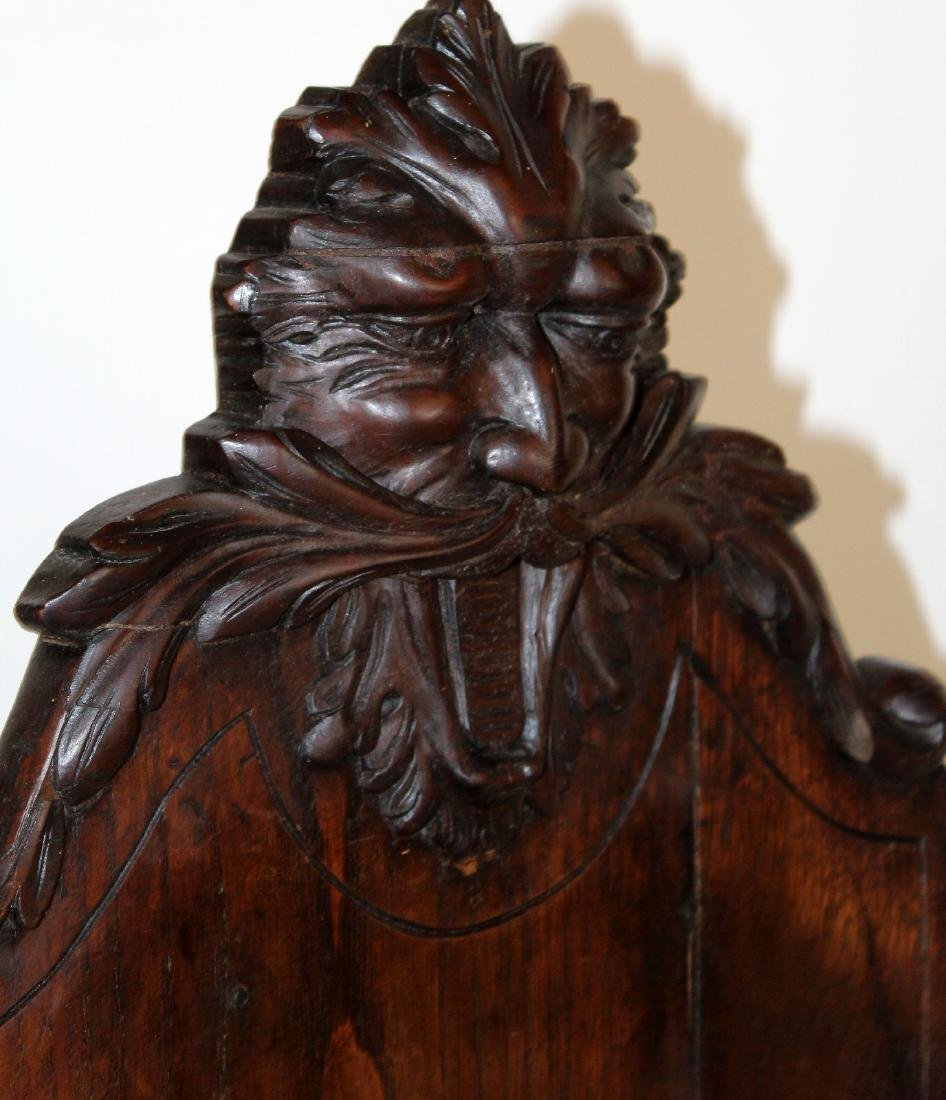 French heavily carved stand in oak - 5