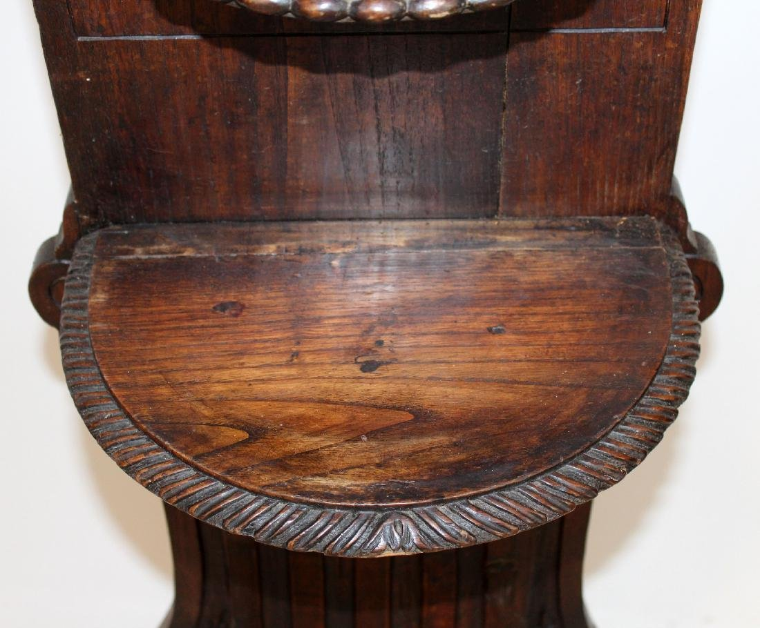 French heavily carved stand in oak - 6