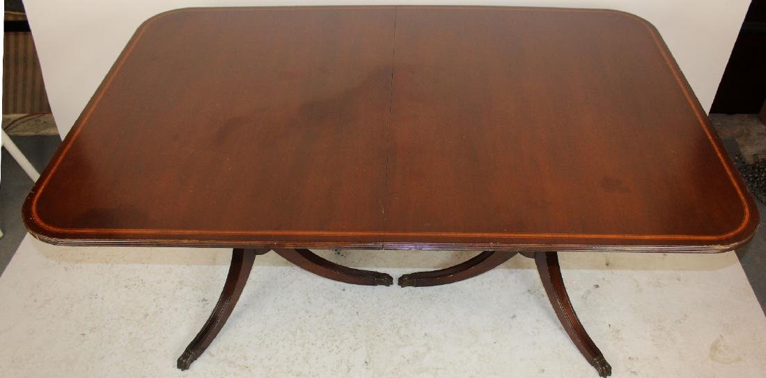 Double pedestal mahogany dining table - 2