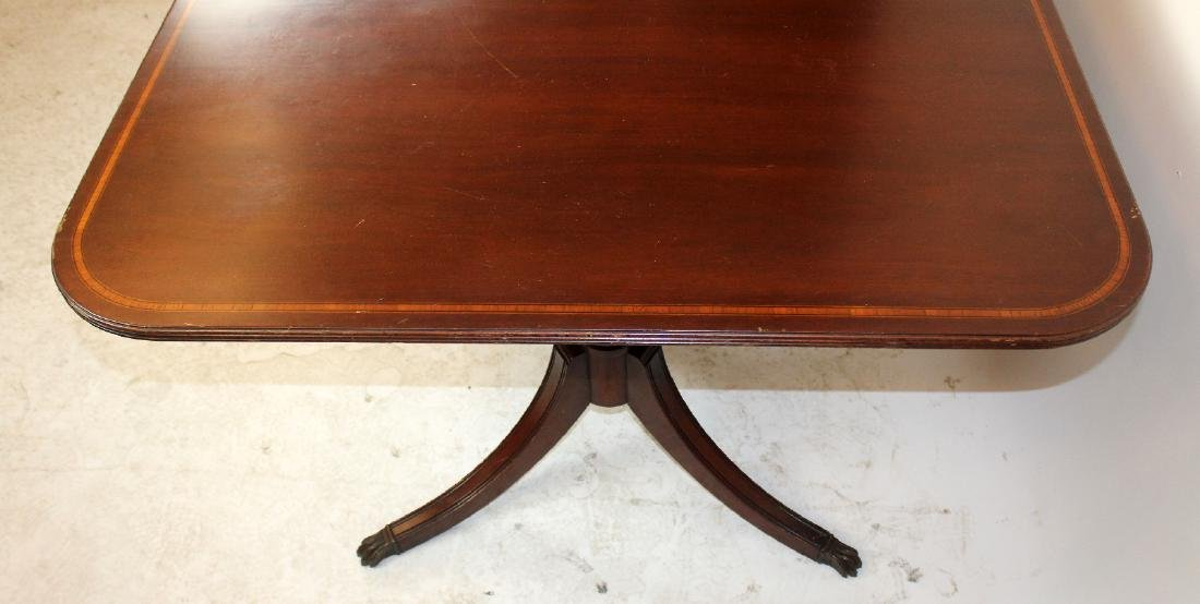 Double pedestal mahogany dining table - 5