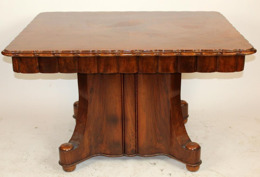 Italian Art Deco square dining table