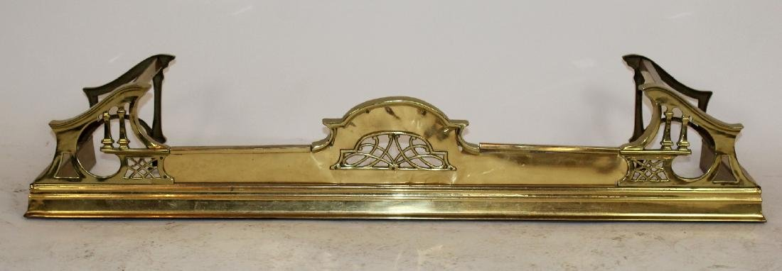 American brass fireplace fender