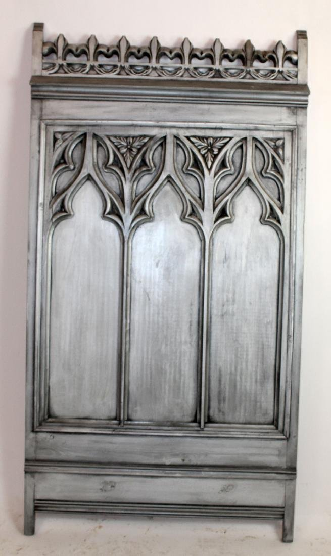 Painted Carved Gothic style panel