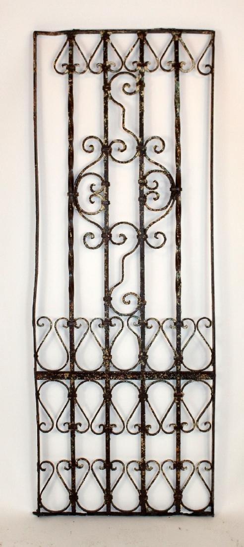"Wrought iron panel 76""h x 27 1/2""w"