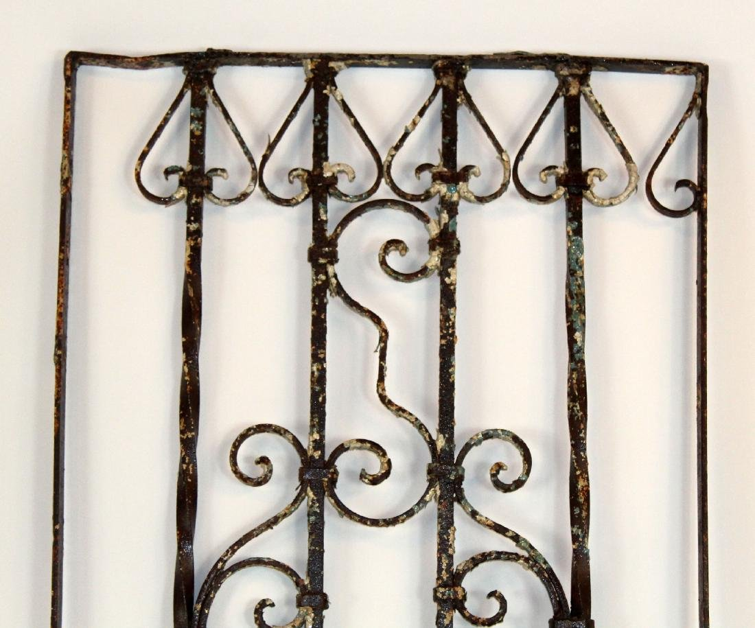 "Wrought iron panel 76""h x 27 1/2""w - 2"