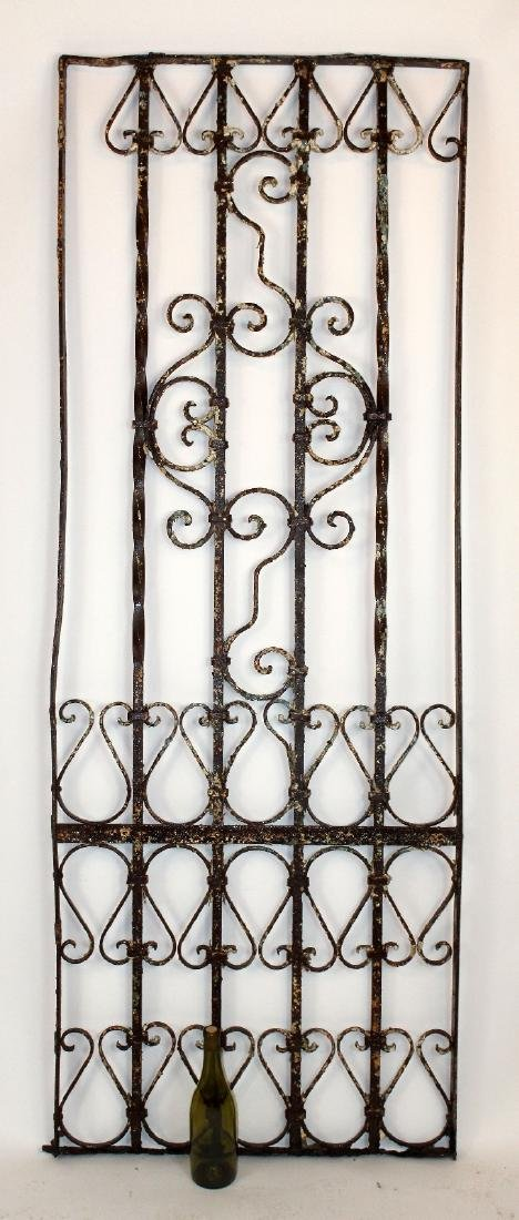 "Wrought iron panel 76""h x 27 1/2""w - 3"