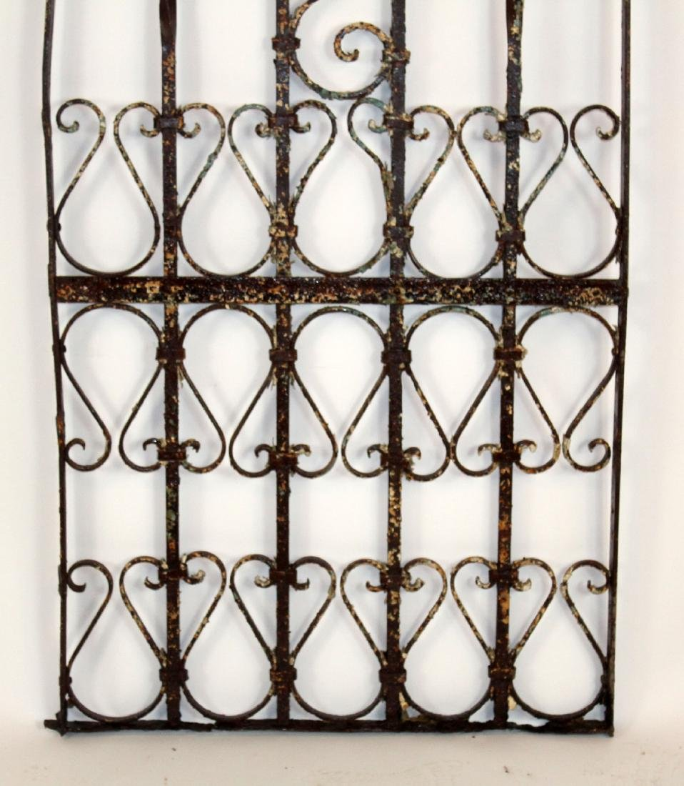 "Wrought iron panel 76""h x 27 1/2""w - 4"