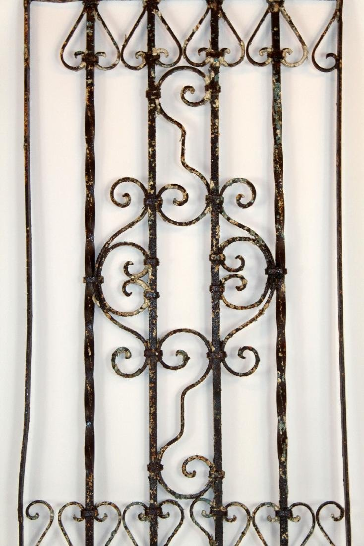 "Wrought iron panel 76""h x 27 1/2""w - 5"