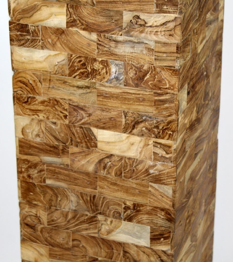 Patchwork burled pedestal - 2