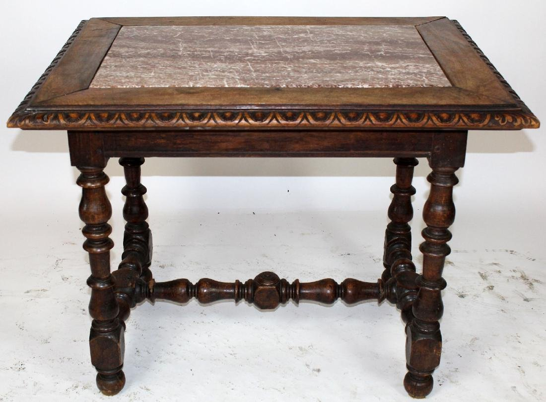 French Louis XIII table in walnut