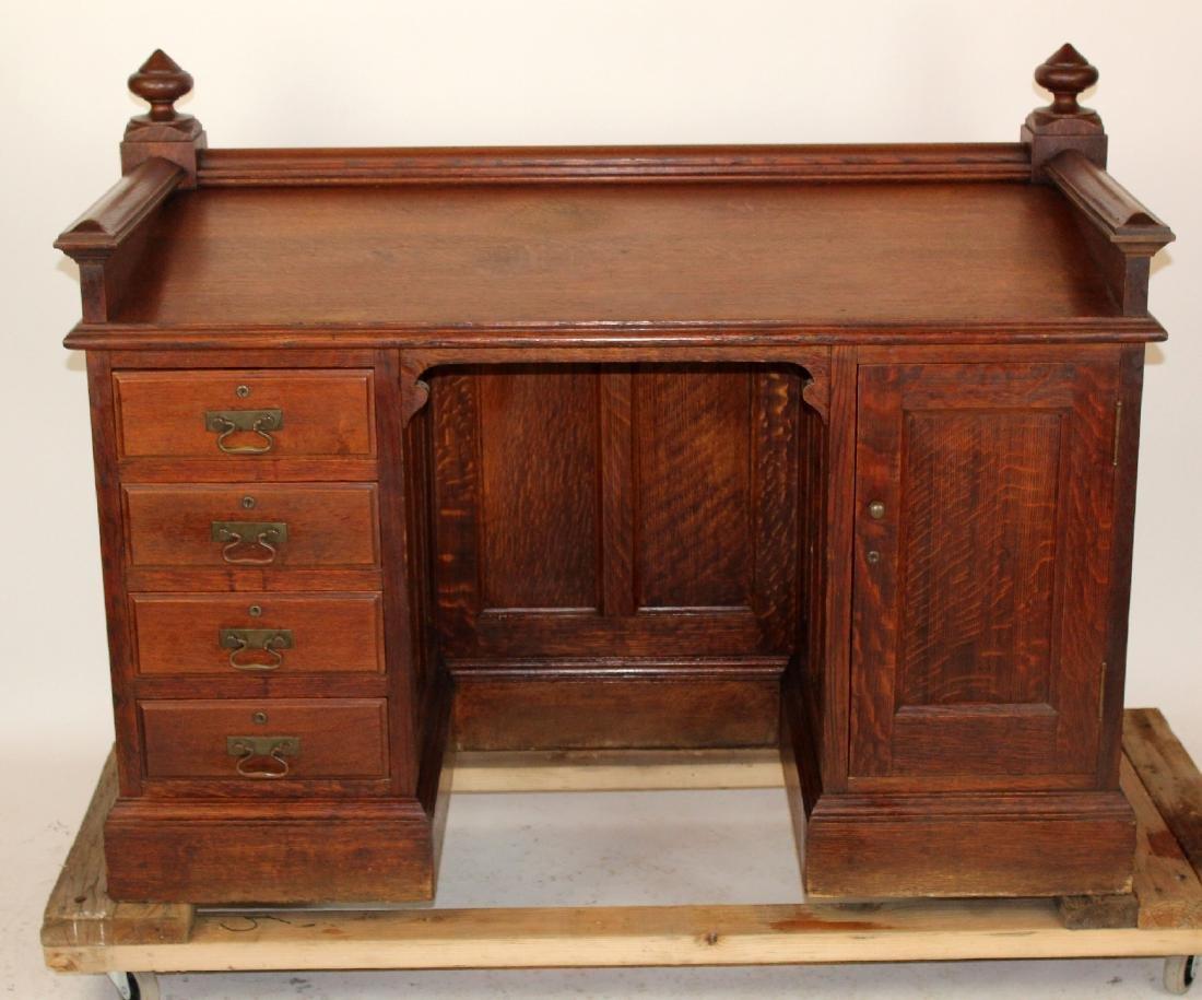 Oak slant front ladies desk