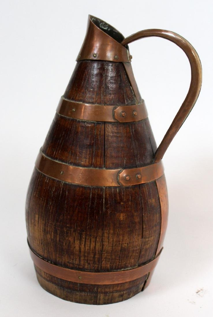 French Alsacian wood and iron wine pitcher