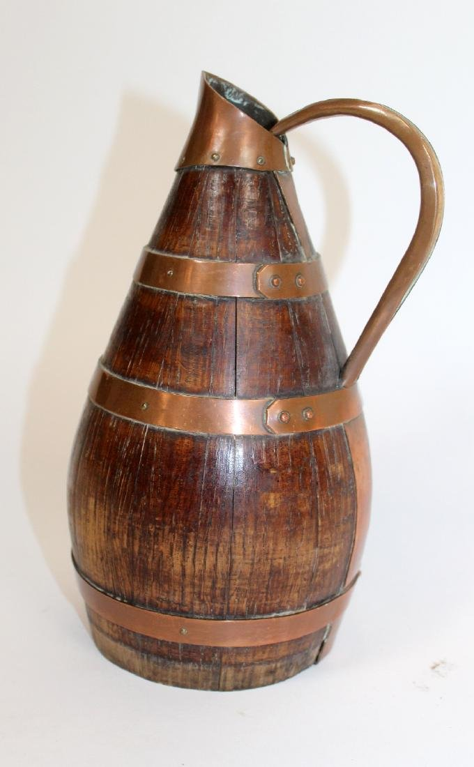 French Alsacian wood and iron wine pitcher - 3