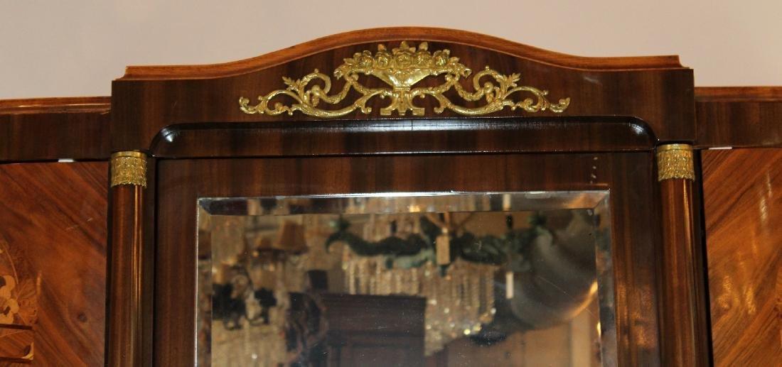 Louis XVI style 3 door marquetry armoire - 2
