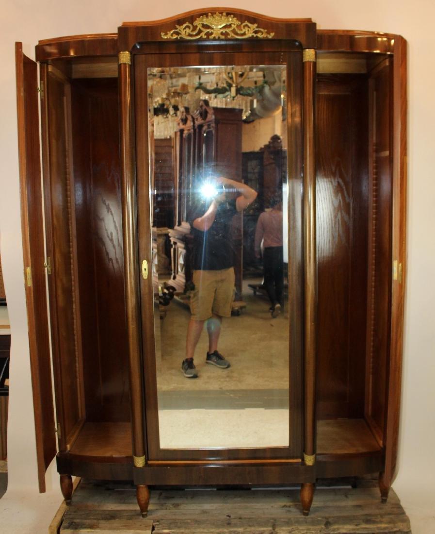 Louis XVI style 3 door marquetry armoire - 3