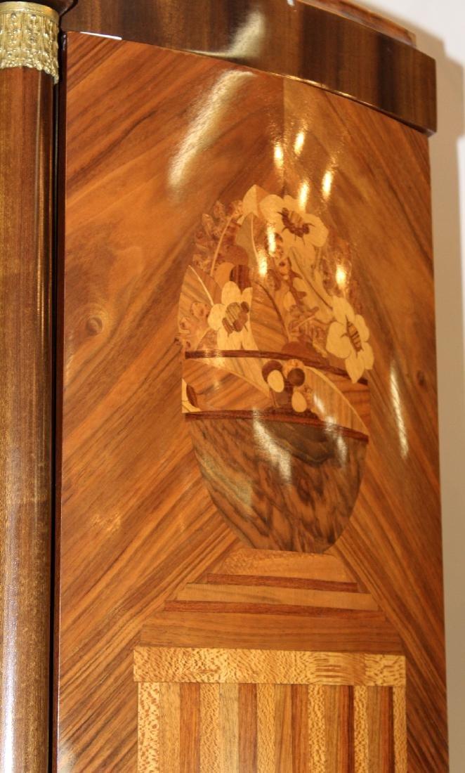 Louis XVI style 3 door marquetry armoire - 5
