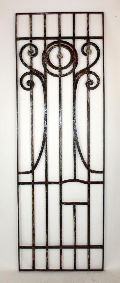 "wrought iron panel 87""h x 29""w"