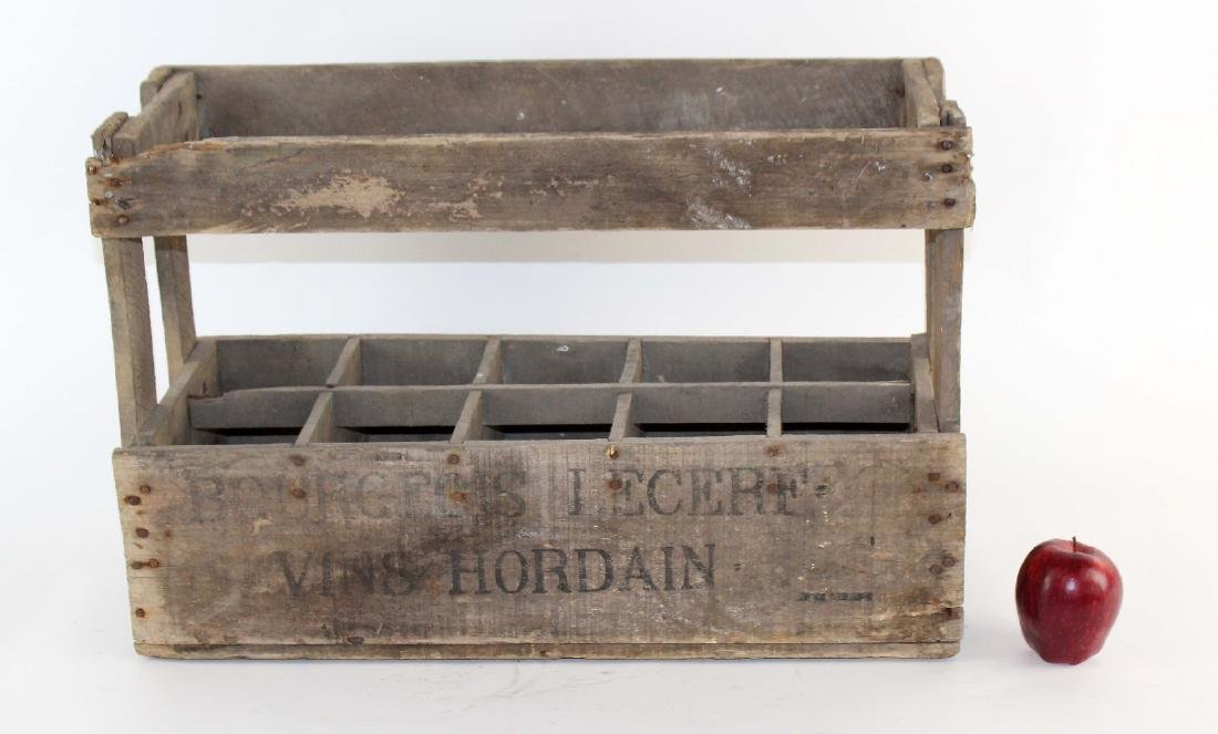 French wooden wine bottle crate - 2