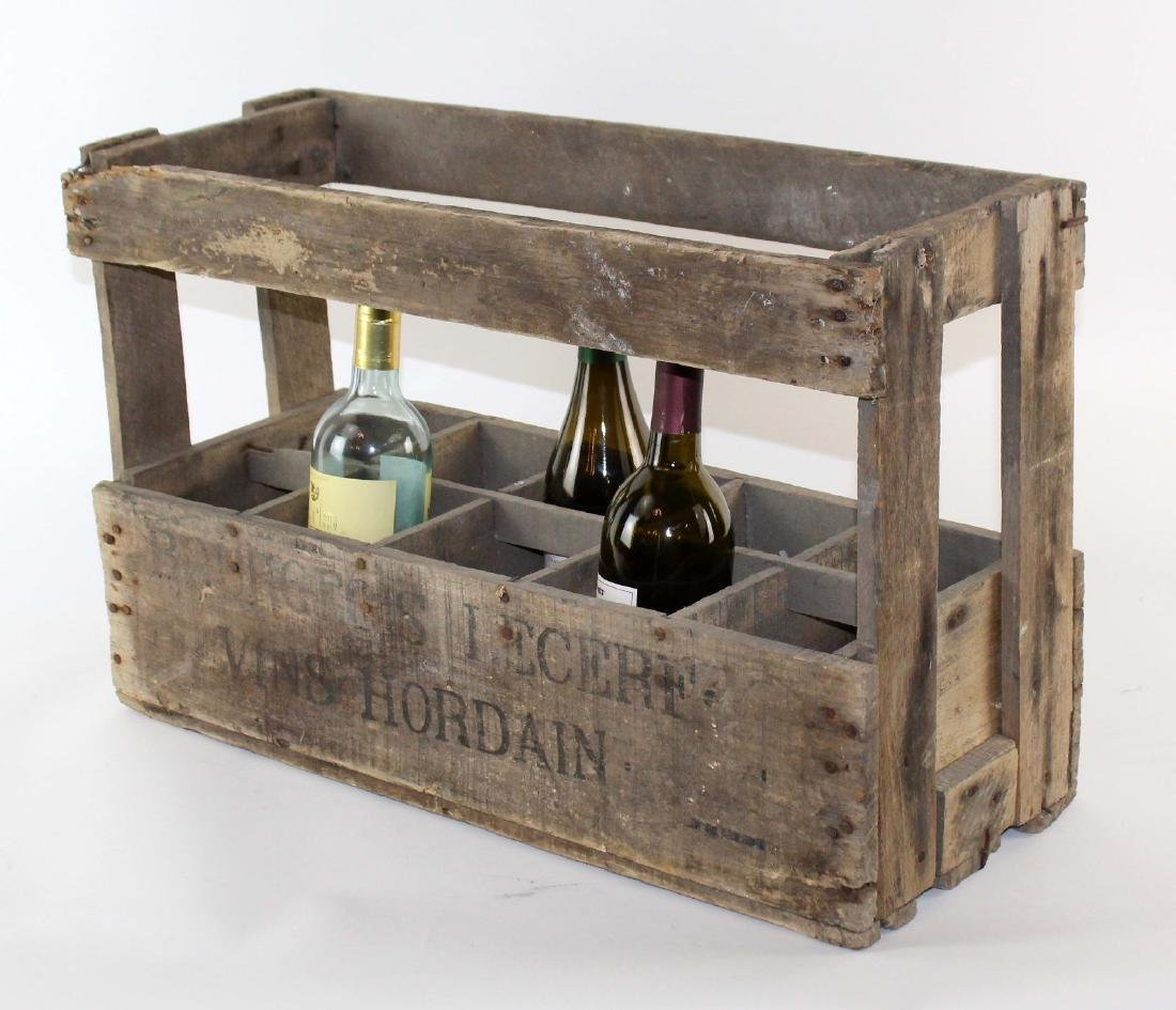 French wooden wine bottle crate - 3