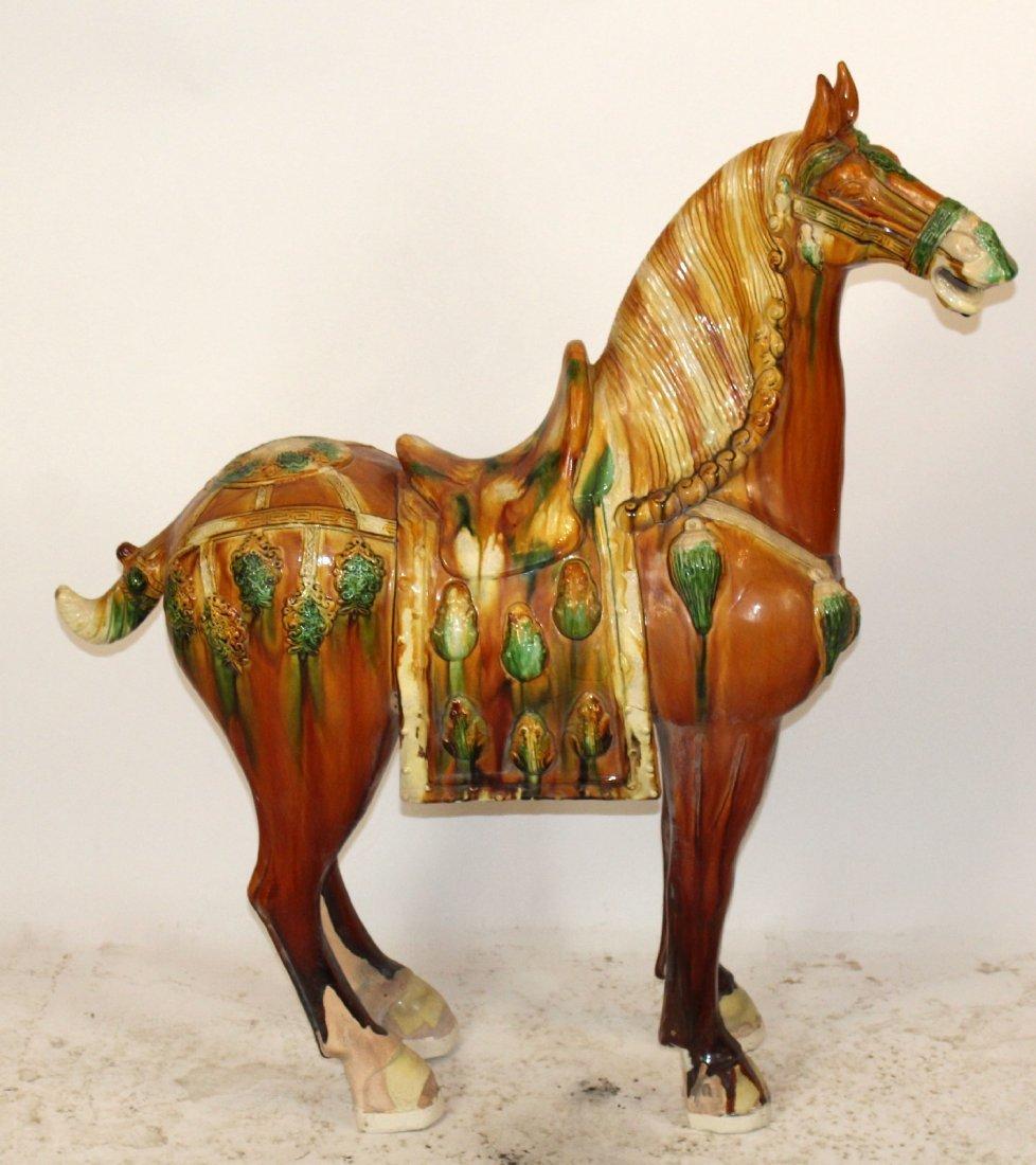 Glazed Terra cotta Tang horse