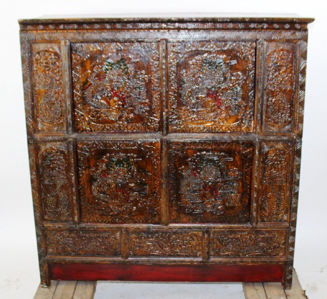 Tibetan 4 door altar cabinet