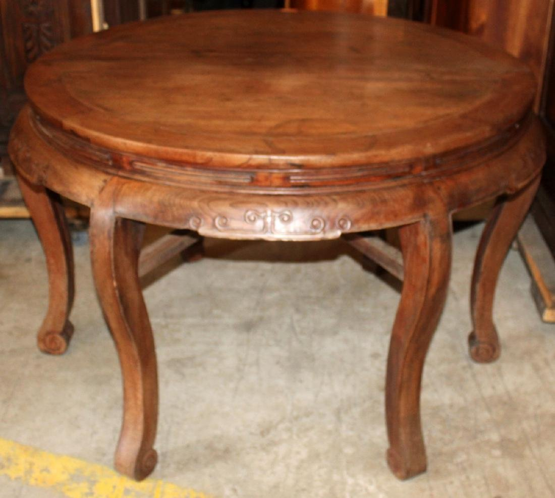 pair of Chinese hardwood demi-lune console tables - 4