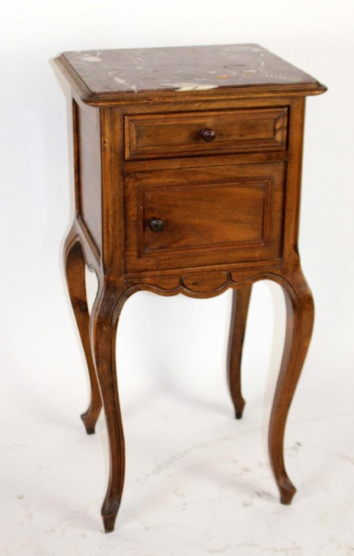 Louis XV marble top chevet in walnut - 3