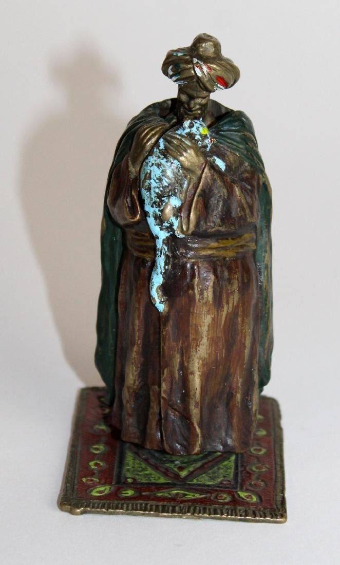 Namgreb cold painted bronze figurine