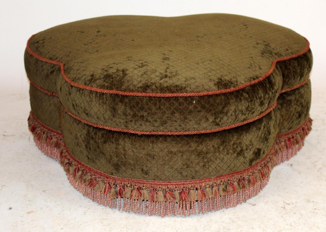 Clover shaped upholstered ottoman