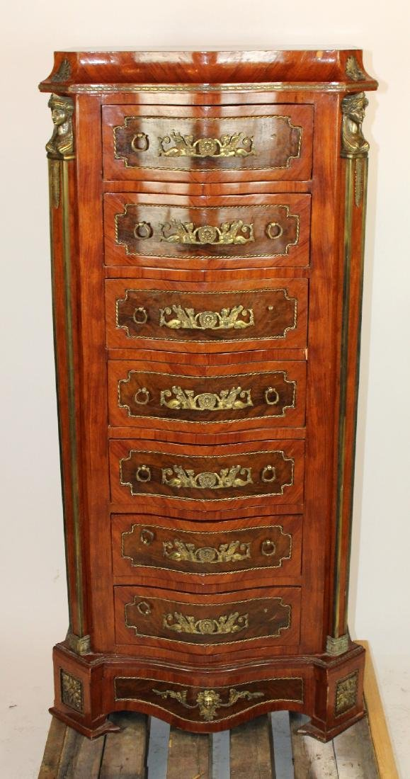 Empire style serpentine front semainier chest