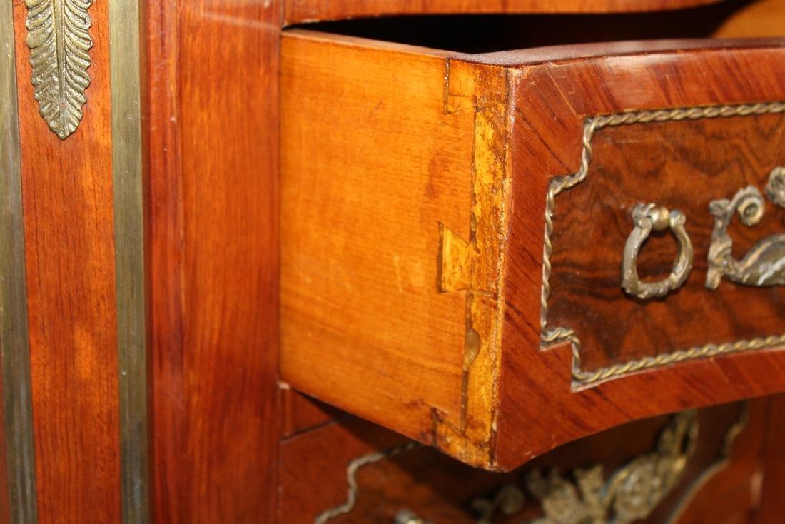 Empire style serpentine front semainier chest - 3