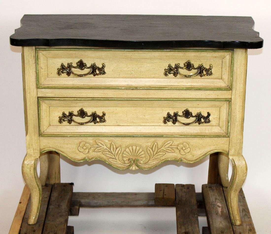 Hekman painted 2 drawer lowboy