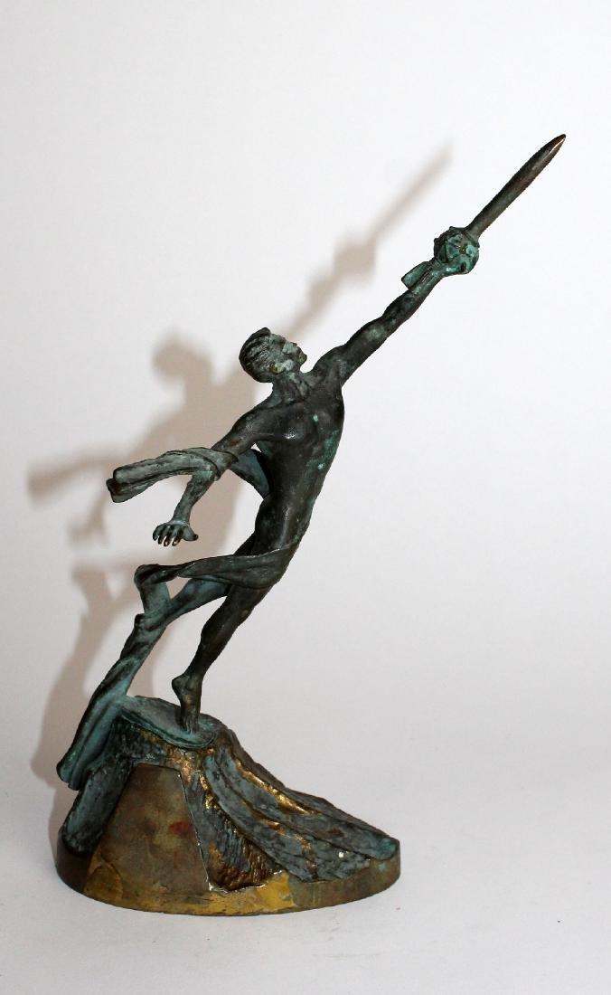 Commemorative bronze figural statue