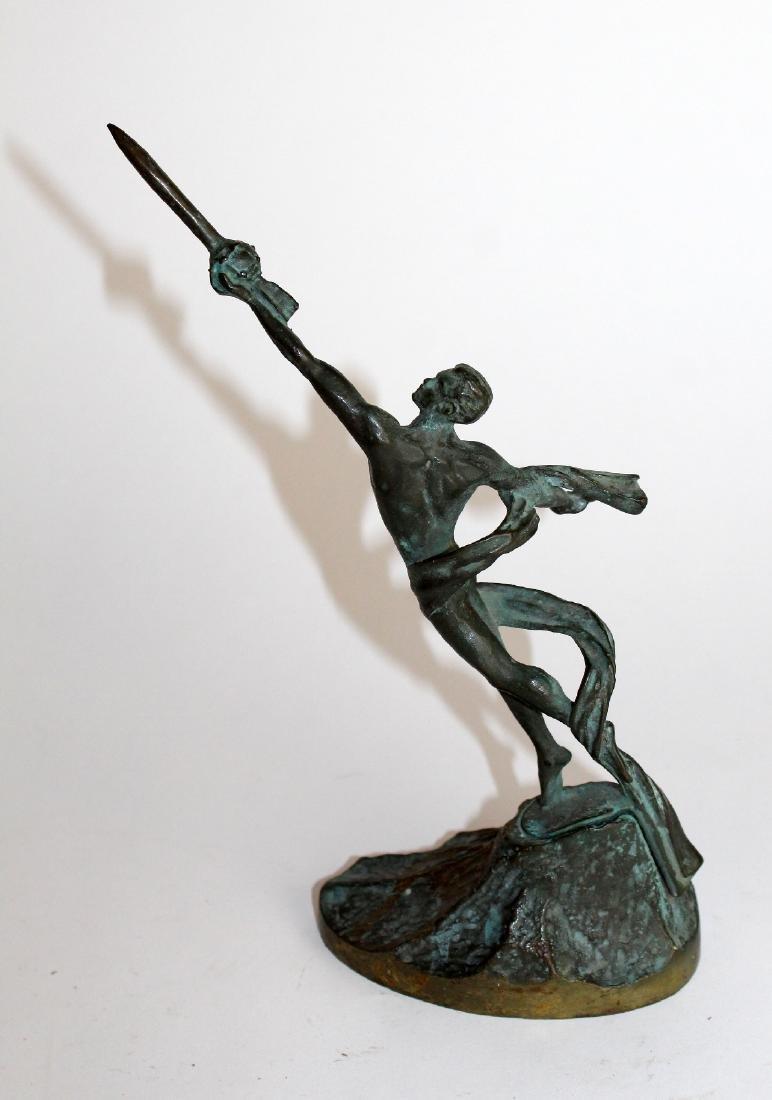Commemorative bronze figural statue - 4
