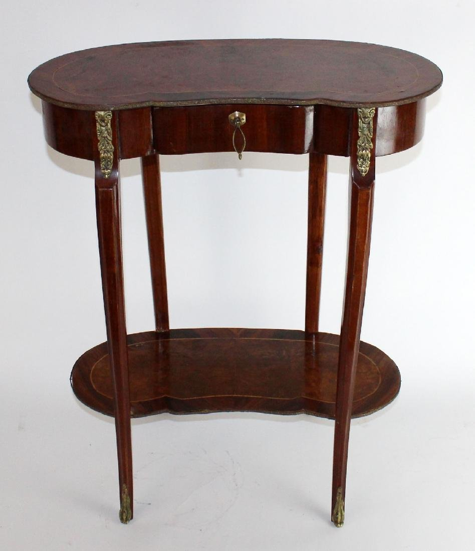 Kidney shaped Louis XV side table