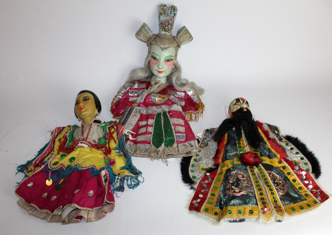 Lot of 3 Taiwanese Glove puppets