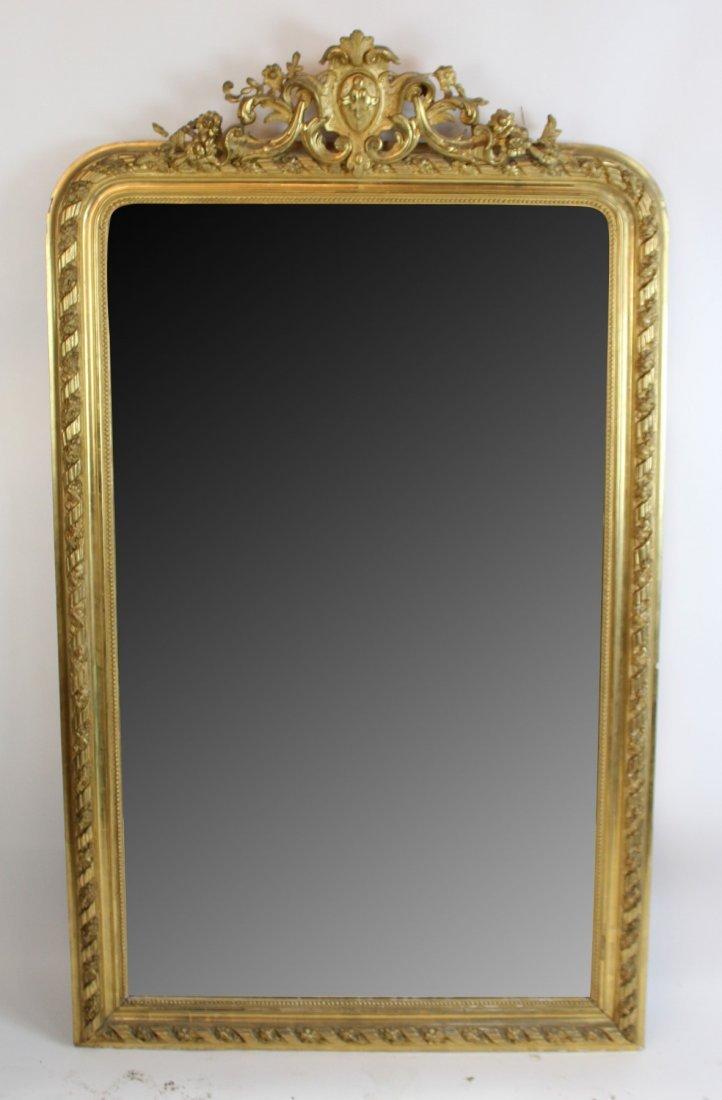 French Louis XV gold leaf mirror