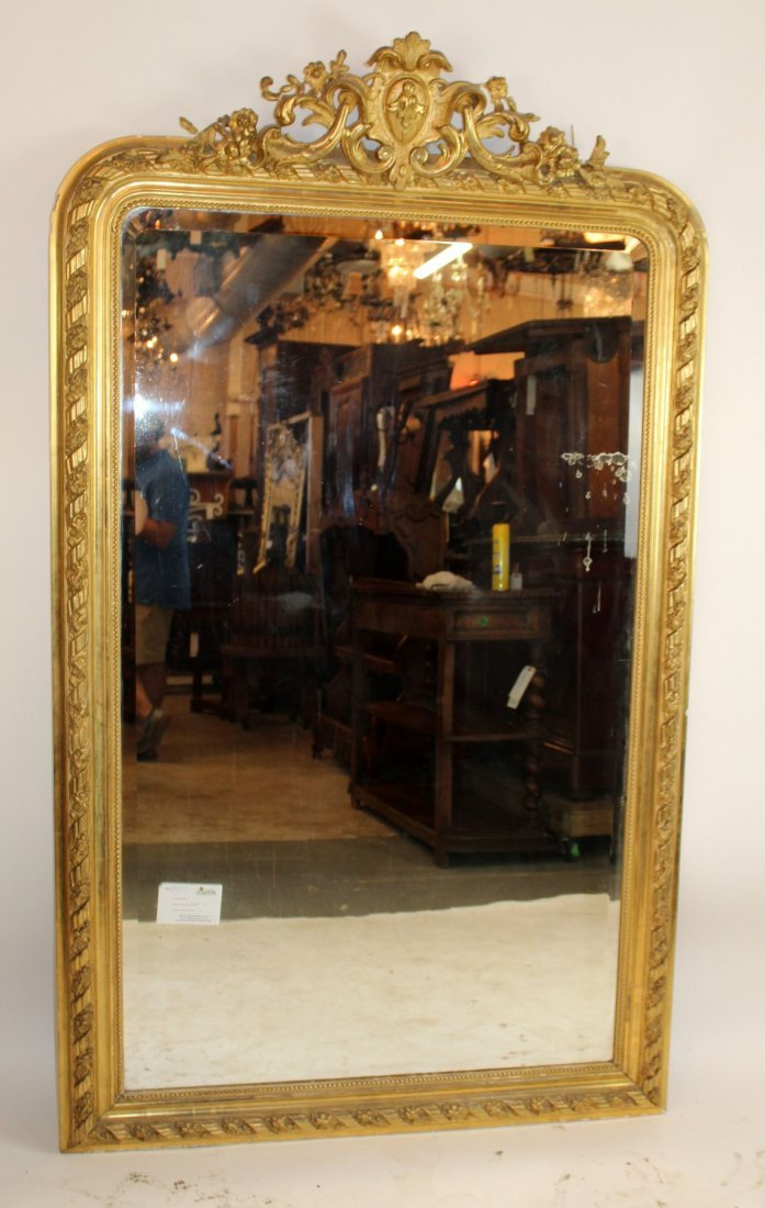 French Louis XV gold leaf mirror - 2