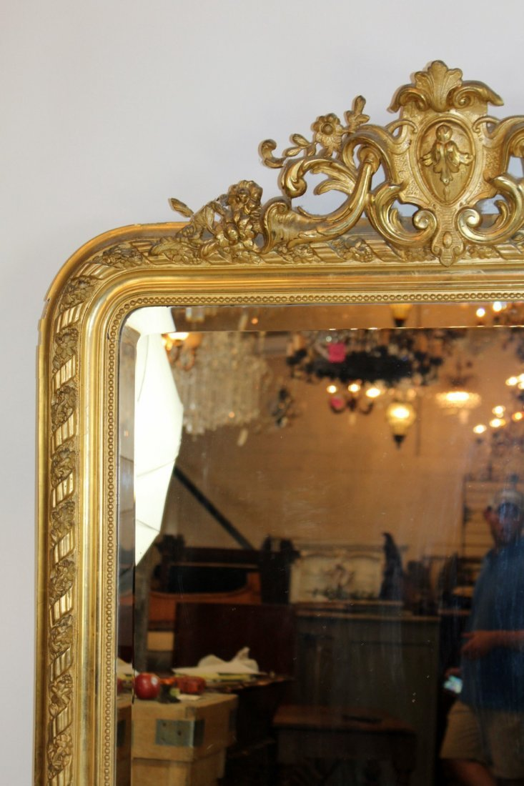 French Louis XV gold leaf mirror - 3