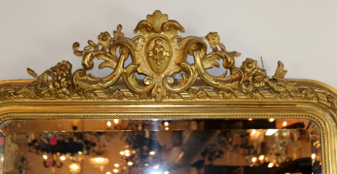 French Louis XV gold leaf mirror - 5