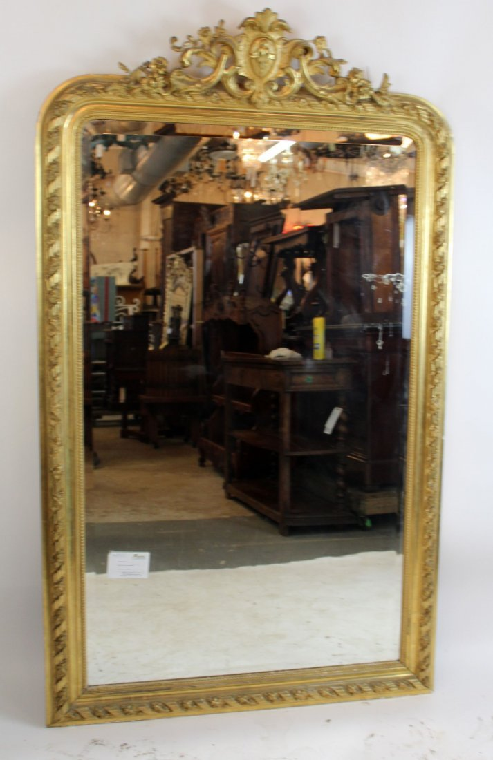 French Louis XV gold leaf mirror - 6