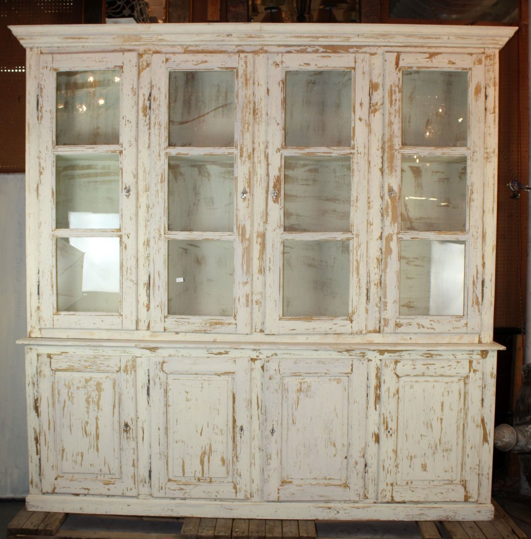 French Louis Philippe 4 door painted bookcase