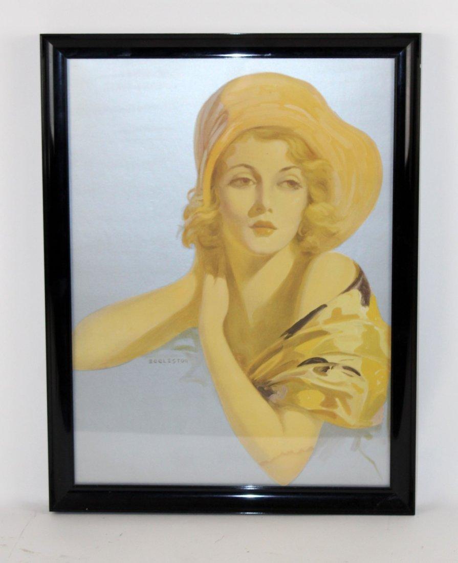 Framed Eggleston print under glass