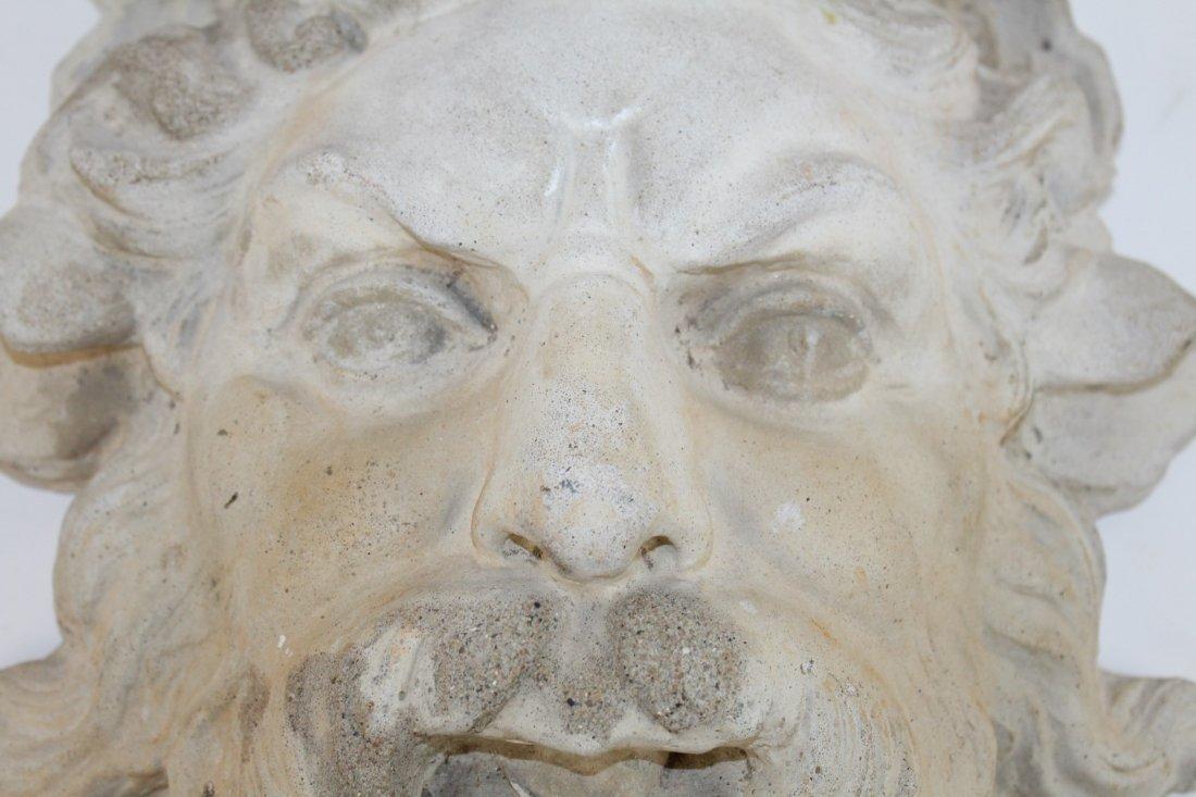 Cast concrete Bacchus mask - 2