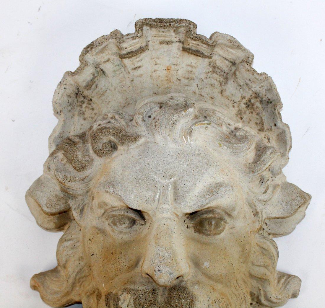 Cast concrete Bacchus mask - 3