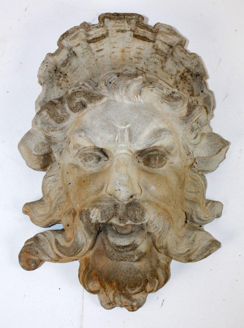 Cast concrete Bacchus mask - 4