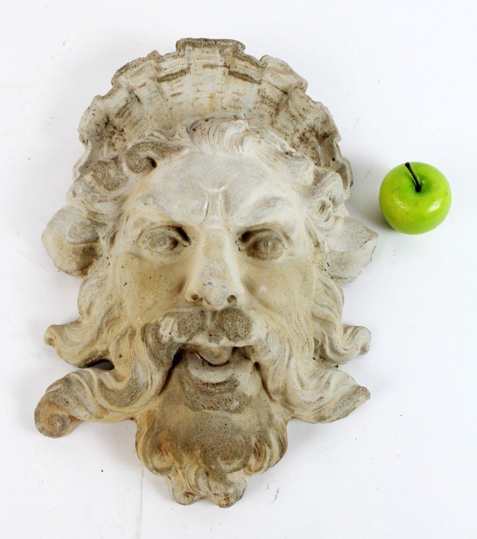 Cast concrete Bacchus mask - 5