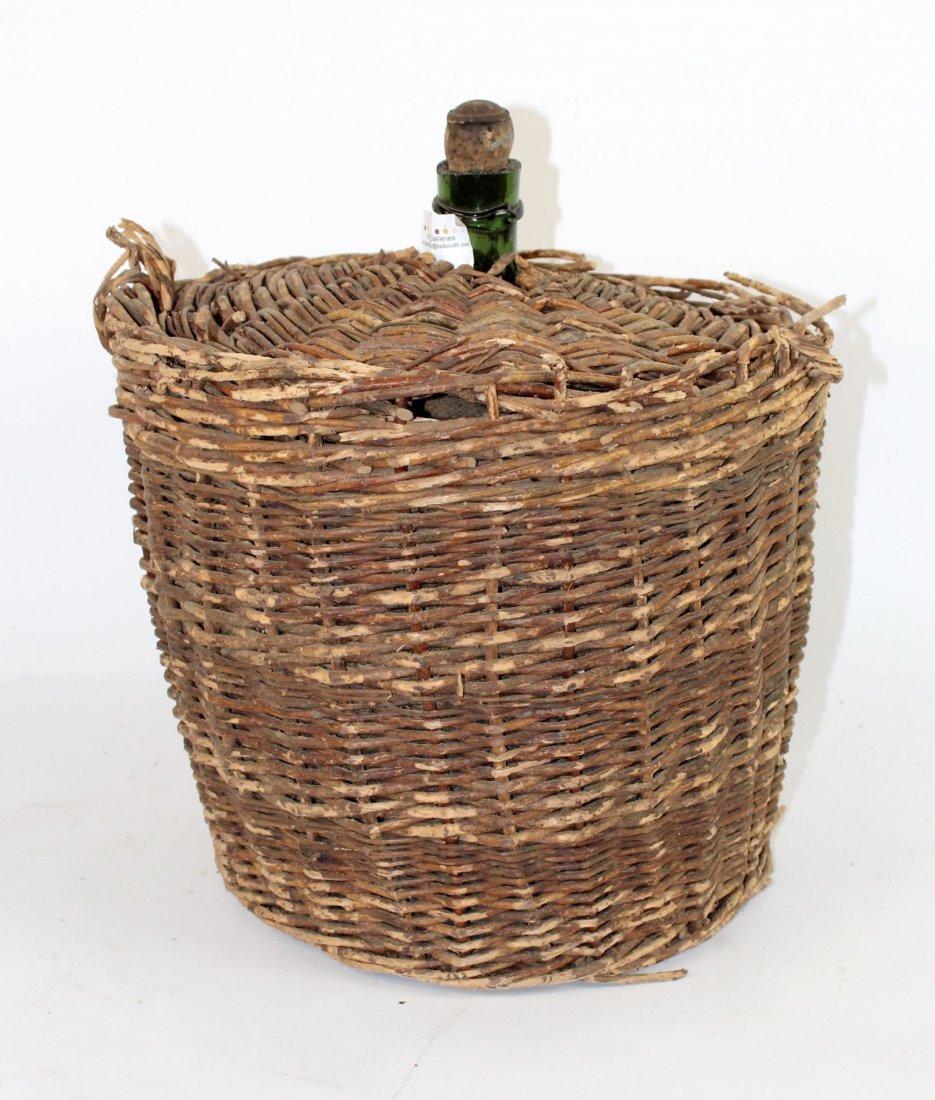 French wicker wrapped demi john