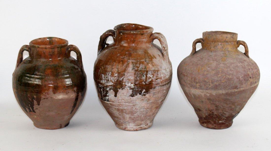 Set of 3 French Terra cotta pots