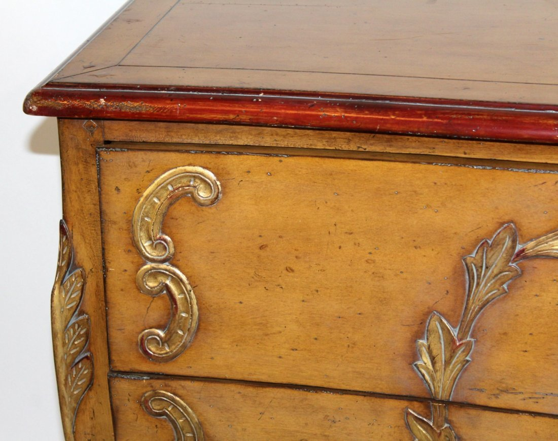Painted bombe style 2 drawer chest - 4